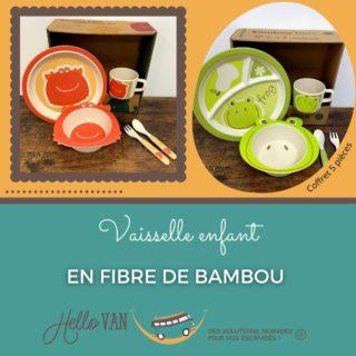 Hello ! ☀ . 🍀 L'offre de la semaine : Vaisselle enfant en fibre de bambou. . Grâce à ce coffret, votre enfant apprend l'autonomie dans la bonne humeur et en toute sécurité. L'assiette à compartiments l'aide à différencier les aliments. Composé de 5 pièces : 1 assiette , 1 bol, 1 tasse, 1 cuillère et 1 fourchette. . Prix en magasin : 19€90 . Profitez de 10% de réduction avec le code : HELLOVAN10 valable jusqu'au 07/03/2021. . À très bientôt, . Carole-Anne ⛺ . Retrouvez-nous : 117 rue des orchidées, 42155 LENTIGNY 📞 04 28 72 01 05 🛒 Achetez en ligne : https://www.hello-van.com/produit/pack-vaisselle-enfant-frog/  https://www.hello-van.com/produit/coffret-vaisselle-pinchy/ . . . . #roannebouge #roanneagglo #loisir42 #tourismeenfrance #tourismefrance #commercelocal #idéescadeaux #idéevacances #magasincamping #nomadeshop #nomadelife #travel #travelphotography #passion #peche
