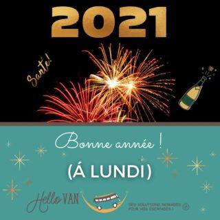 Hello 2021 ! ❄ . 🍾 Bonne année !!!! 🍾 . Je tenais à vous souhaitez à tous mes meilleurs vœux pour cette année 2021, et particulièrement la santé ! prenez soin de vous ! 🎉  . Fermeture : du 31/12 au 03/01 inclus. On se retrouve dès lundi 14h ! . À très bientôt, . Carole-Anne ⛺ . Retrouvez-nous : 117 rue des orchidées, 42155 LENTIGNY 📞 04 28 72 01 05 🛒 Achetez en ligne : www.hello-van.com . . . . #bonneannée #happynewyear #winter #2021#hiver #neige #vacancehiver #voyagehiver #ski #fini2020 #hiver2020 #bonjour2021 #janvier #collectionhiver #sapin #froid #onrecommenceàzéro