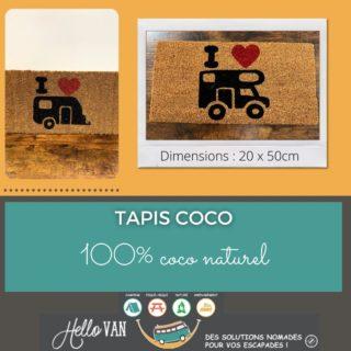 Hello ! ☀ . 🍀 L'offre de la semaine : Tapis COCO . Dimensions : 20 x 50cm. Tapis 100% coco naturel. . Prix en magasin : 8€90 . Profitez de 10% de réduction avec le code : HELLOVAN10 valable jusqu'au 04/04/2021. . À très bientôt, . Carole-Anne ⛺ . Retrouvez-nous : 117 rue des orchidées, 42155 LENTIGNY 📞 04 28 72 01 05 🛒 Achetez en ligne : https://www.hello-van.com/produit/tapis-coco/ . . . . #tourismeroanne #tourismeroannais #roanne #lentigny #riorges #mably #coteroannaise #accessoirescamping #roannecity #roannetourisme #jaimeroanne